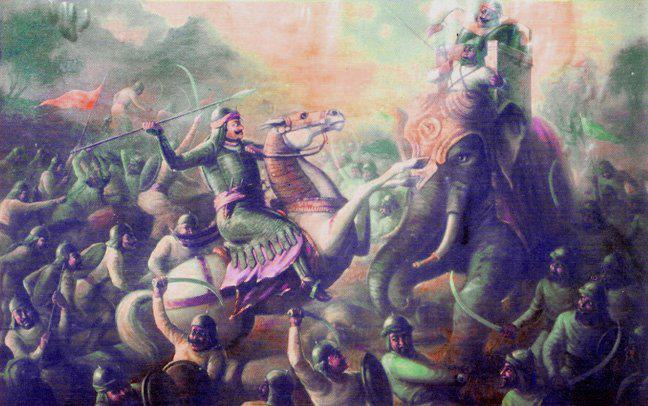 Maharana Pratap at the Battle of Haldighati