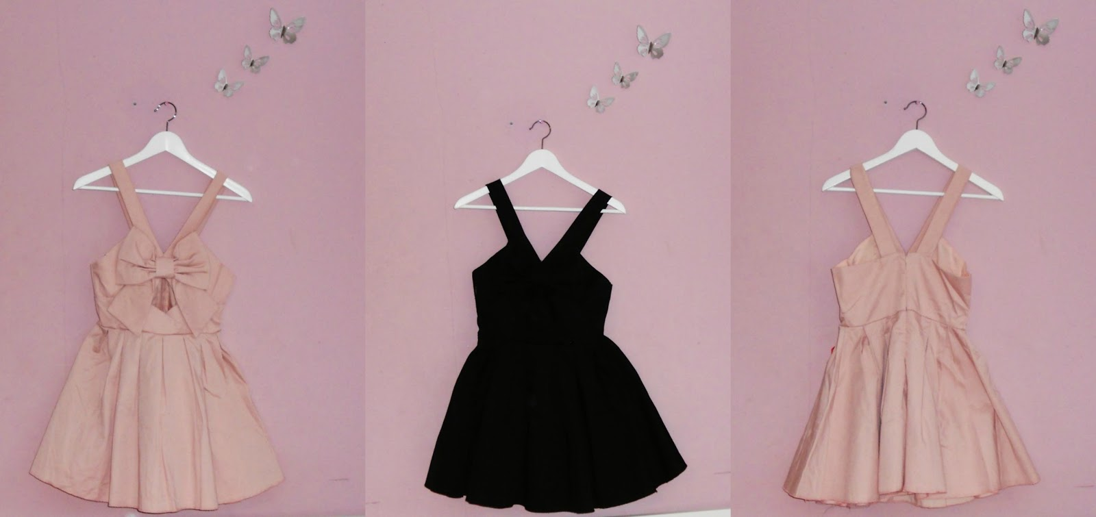 Summer Fashion Haul Nelly.com Pink Black Bow Dress Club L