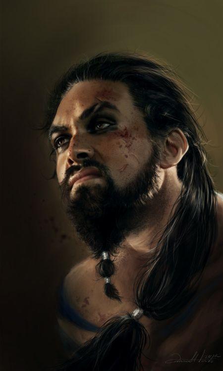 Ania Mitura DalisaAnja deviantart ilustrações fantasia sombria Game of Thrones - Khal Drogo