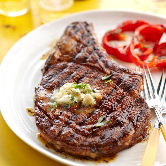 My Favorite Things: Cowboy Rib Eye Steak and Whiskey Butter