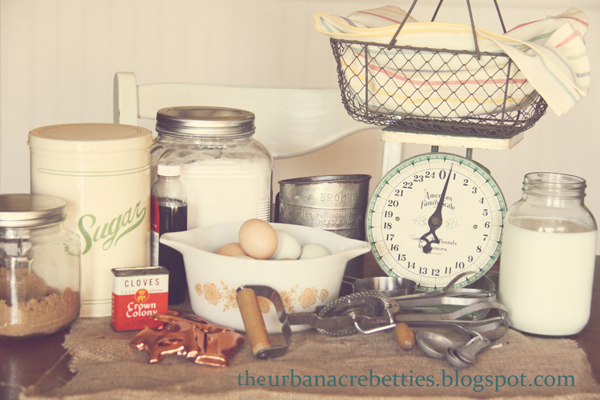 The Urban Acre Betties: Baking cookies~ Vintage style!