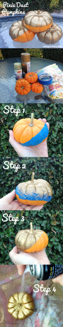 Budget Fairy Tale: DIY Pixie Dust Pumpkins