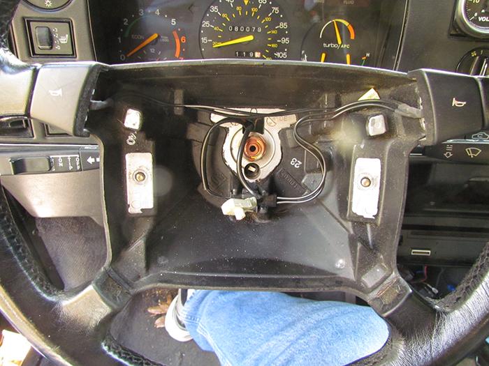 Airbag Removal  Steering Upper Bearing Bushing Replacement On Saab C900  Pt  1 Crawls Backward