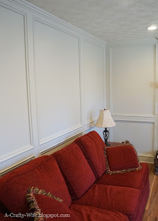 painted judges paneling in den BIN primer Benjamin Moore Edgecomb Gray paint   A Crafty Wife