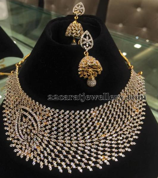 Heavy Chokers with Simple Jhumkas