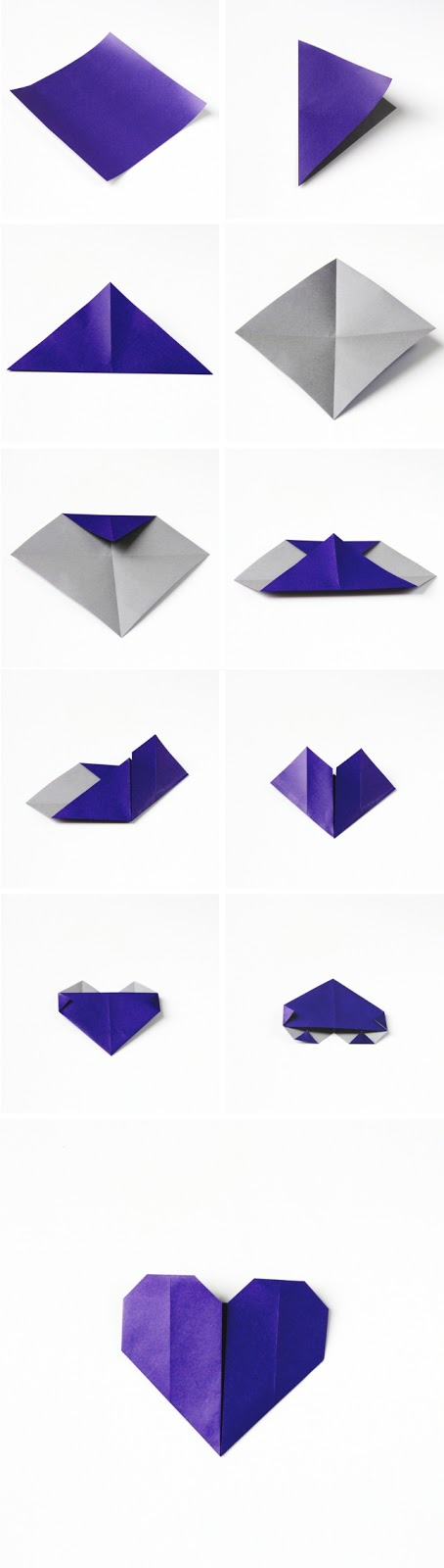 How to make origami Valentines Day models
