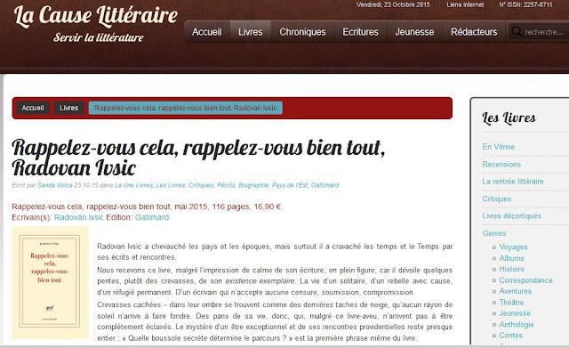 http://www.lacauselitteraire.fr/rappelez-vous-cela-rappelez-vous-bien-tout-radovan-ivsic