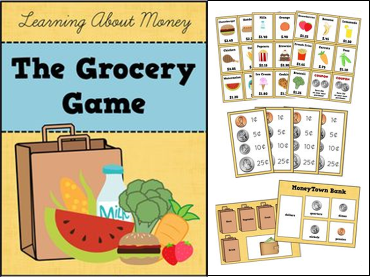 http://www.teacherspayteachers.com/Product/Money-Math-Game-Counting-Dollars-Cents-The-Grocery-Game-1081053