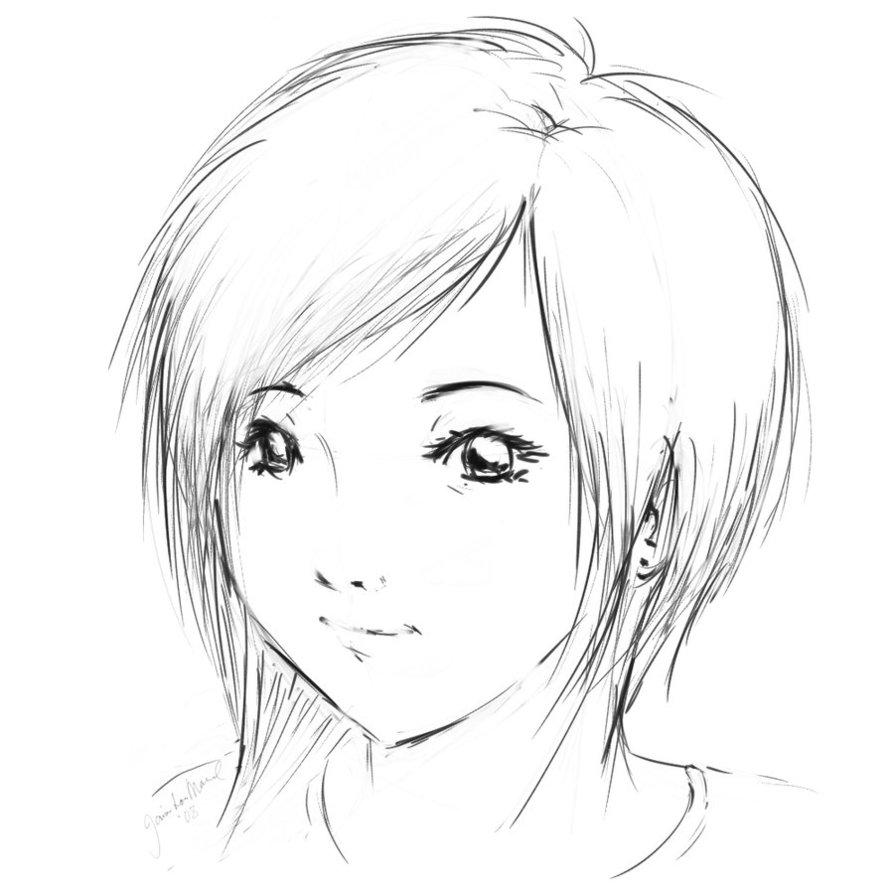 dibujo colorear manga:
