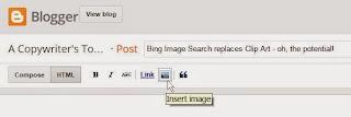 Screenshot - insert image, Blogger