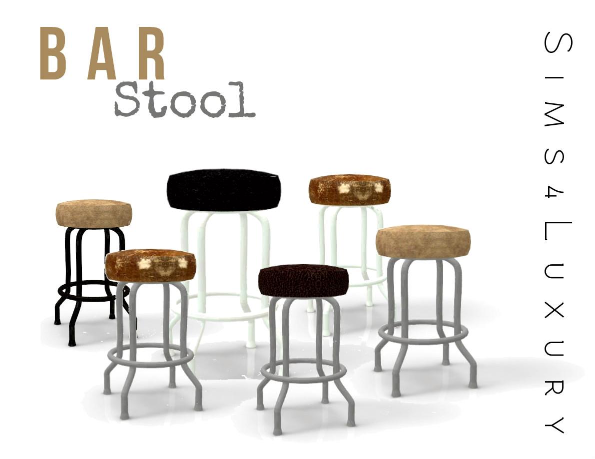 Bar stool Sims4Luxury : rendu from sims4luxury.blogspot.com size 1191 x 919 jpeg 123kB