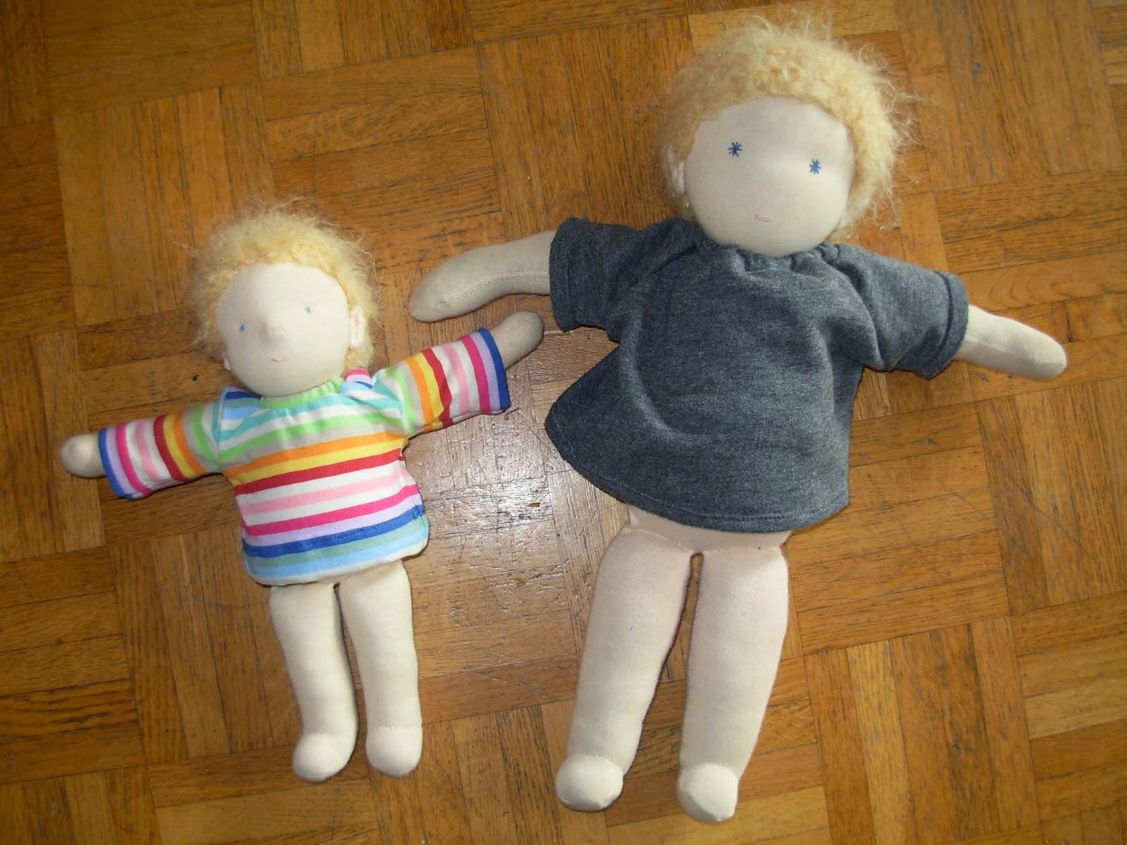 selbst gemachte Puppen für Kinder