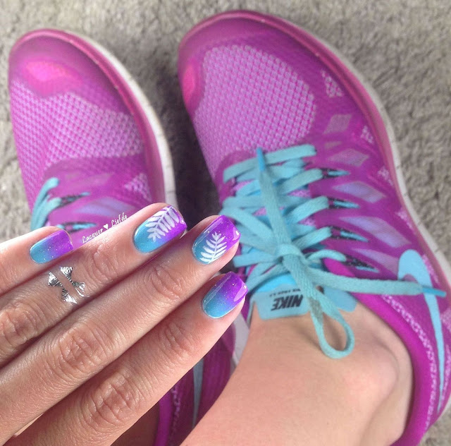 China Glaze Electric Nights Gradient Nike Free 5.0