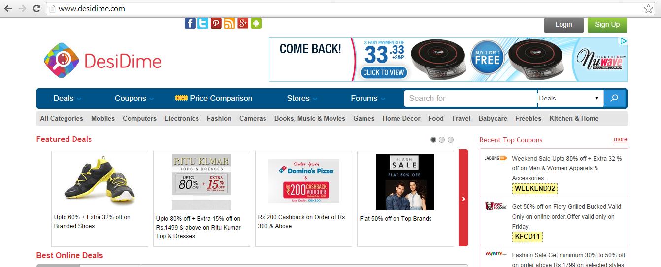 Desidime - Affiliate marketing example site