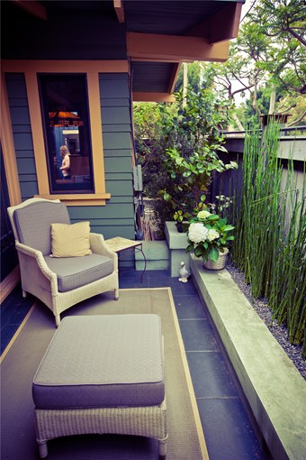 Dise os de patios peque os encantadores patios y jardines - Balcony design for small spaces pict ...