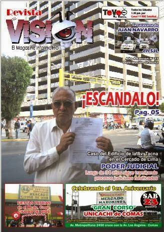 YA SALIO LA EDICIÓN N° 27 DE REVISTA VISIÓN