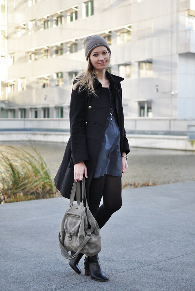 caban noir kookai robe boots cosmo sac billy dreyfuss bonnet zara