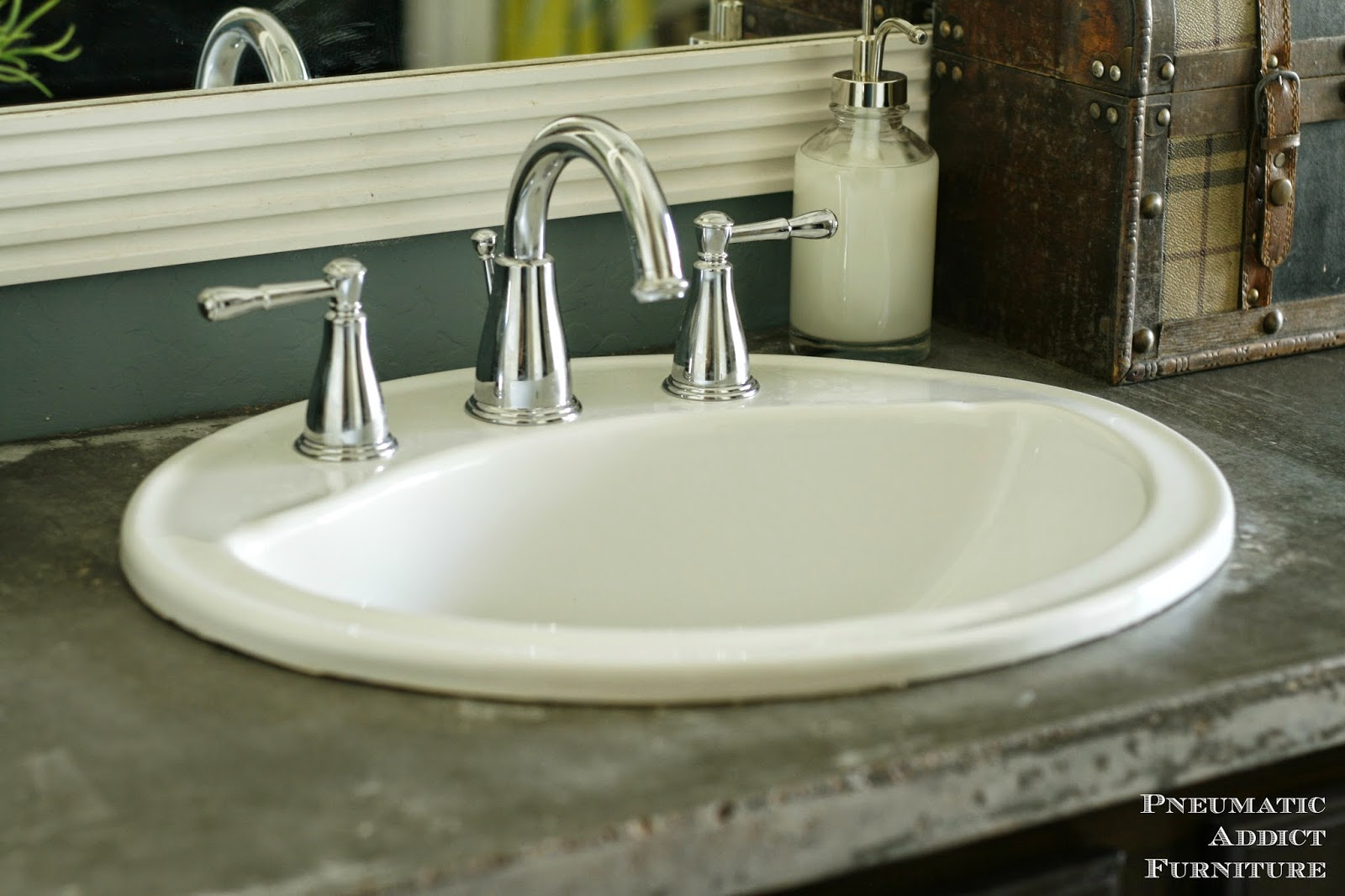 Countertop Sink : Pneumatic Addict : DIY Concrete Countertop With Sink Openings