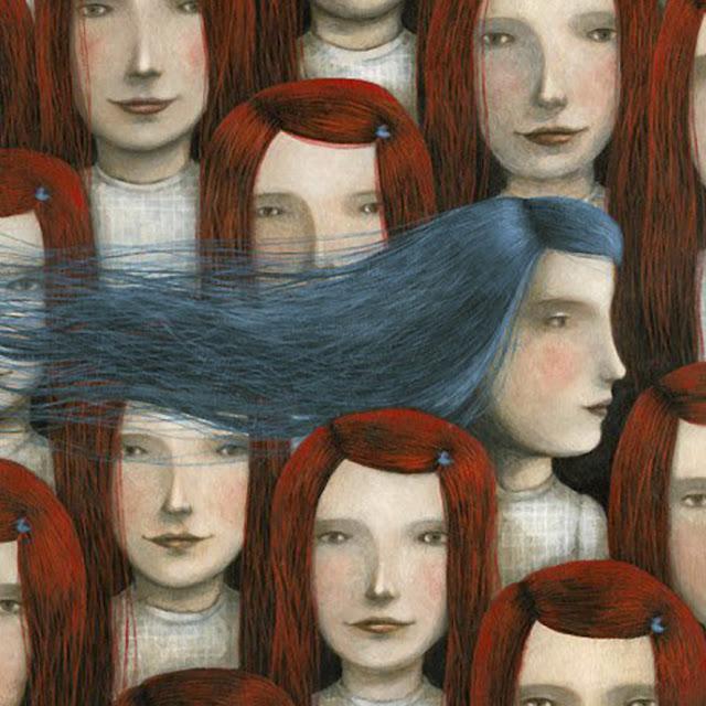 PALE BLUE & DARK ORANGE • WEEKLY COLOR INSPIRATION • THE ROUND BUTTON BLOG