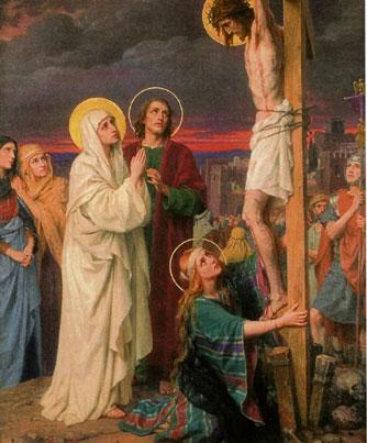 Mujeres al pie de la cruz