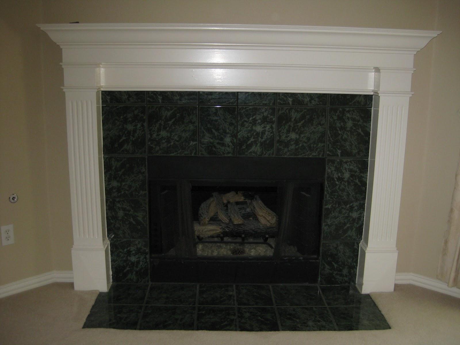 brookhollow lane fireplace mantle redo
