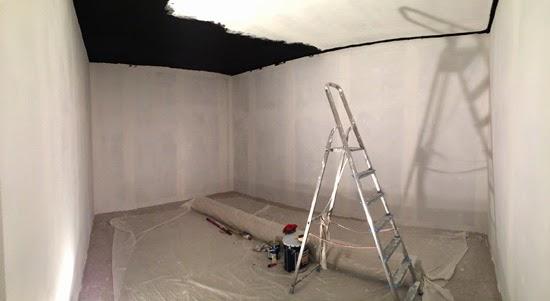 Construction salle de r p tition rock - Peinture epaisse plafond ...