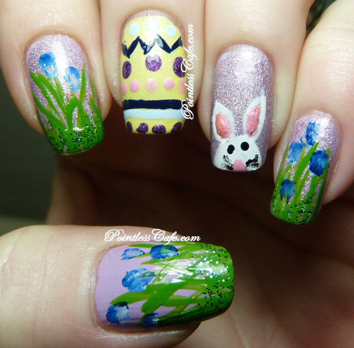 Easter Bunny Nail Art: Deranged Bunny And Runny Eggs