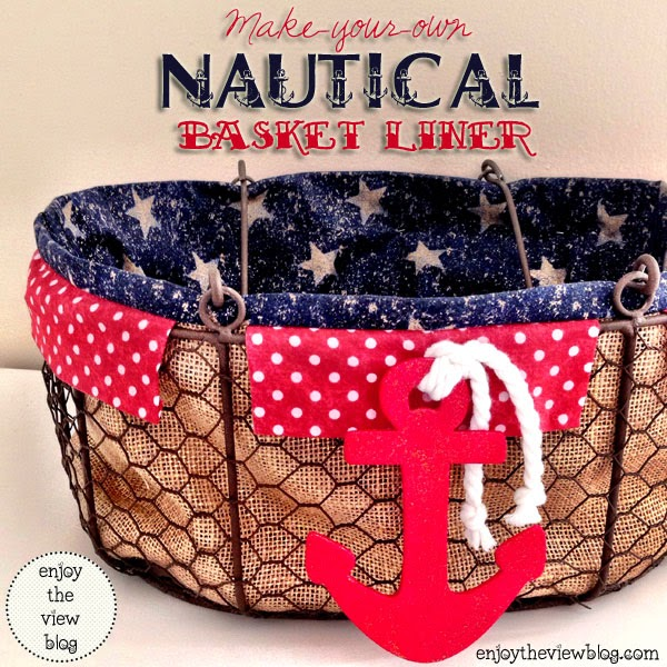 Nautical Basket Liner from Enjoy the View