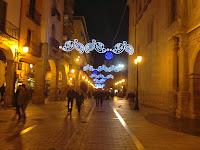 Iluminada por Navidad
