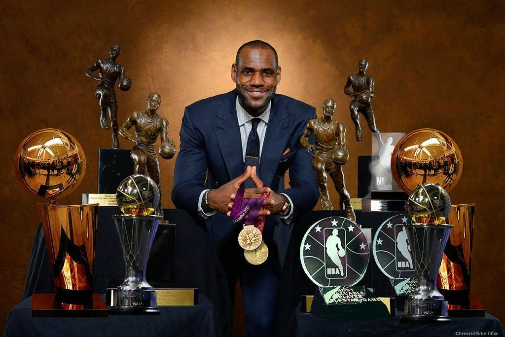 LeBron James And His Host Of Awards Symbolic Pride In Himself