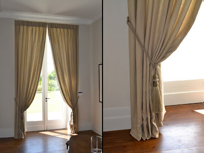 double rideaux lin taupe