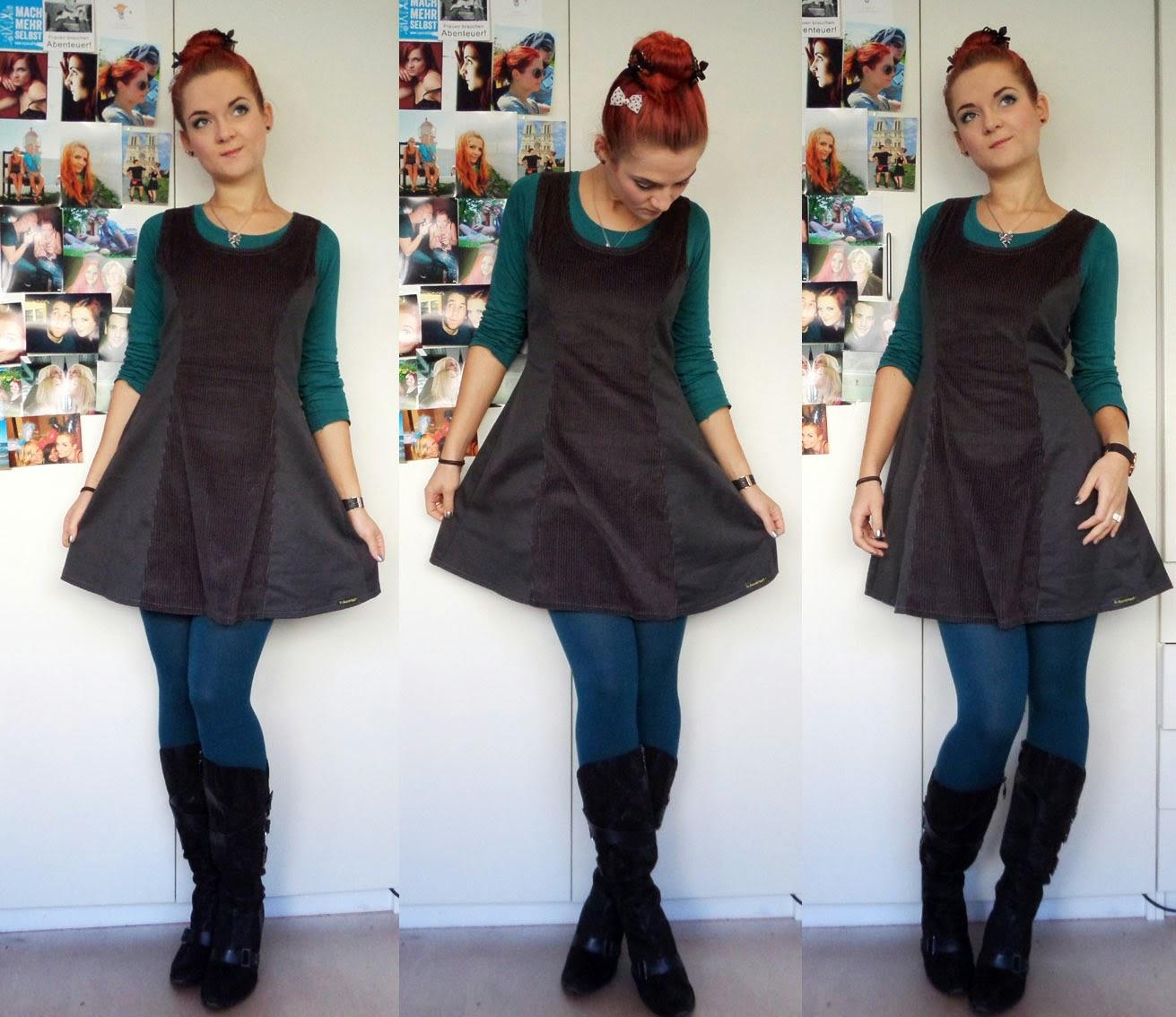 [Nähen] MMM - Graues Kleid mit Materialmix