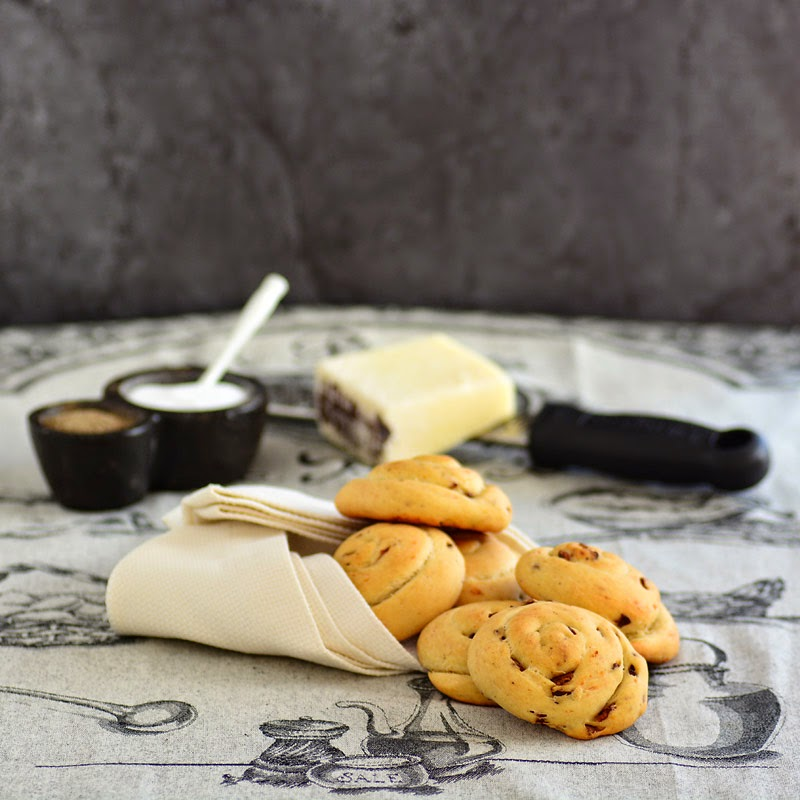 Savoring Time in the Kitchen: Italian Bacon and Cheese 'Snail' Rolls