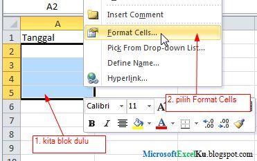 Penjumlahan tanggal di excel, Rumus Tanggal di Excel 2010