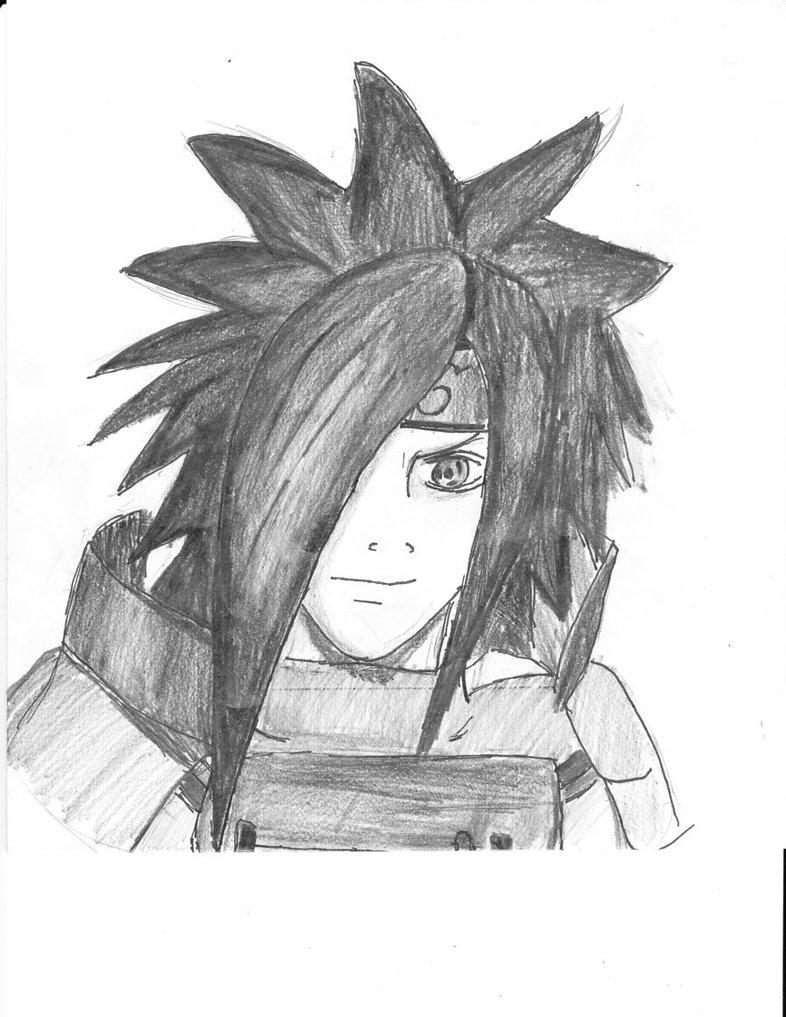 Uchiha madara and uchiha sasuke pencil sketches