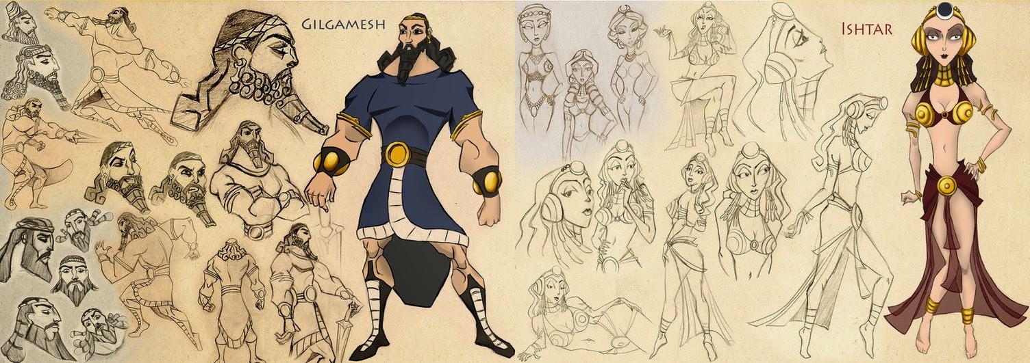 http://ocult90.deviantart.com/art/Concepts-de-Gilgamesh-e-Ishtar-395199287