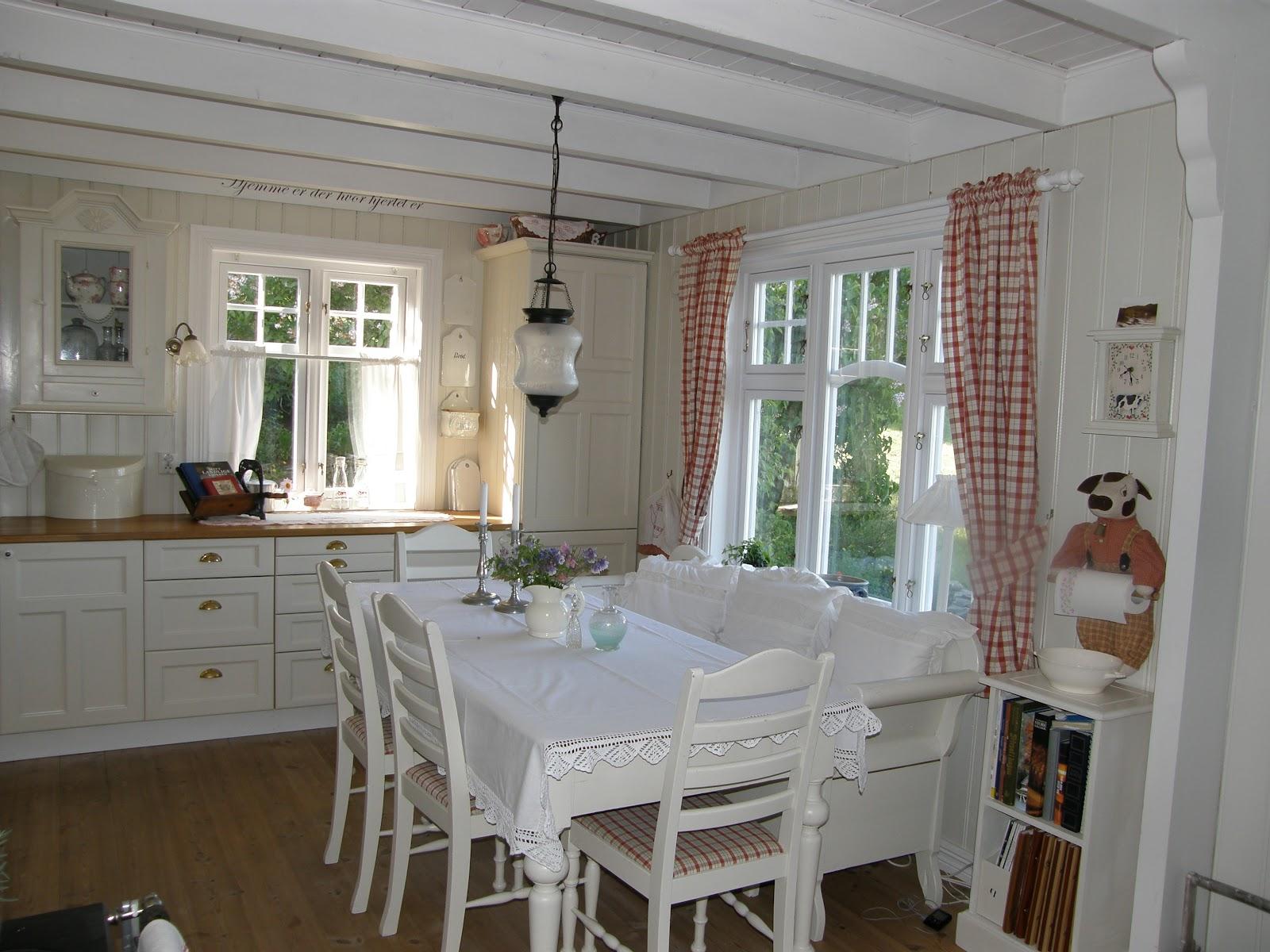 Husmannsplassen i hidlesundet gulvene er malte - Case norvegesi interni ...