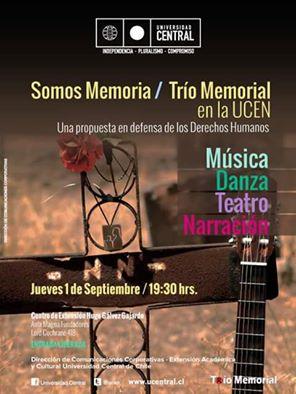 SANTIAGO:  SOMOS MEMORIA / TRÍO MEMORIAL EN LA UCEM