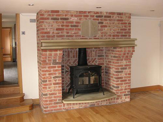 Brick Laminate Picture Inglenook Fireplace