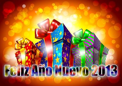 Tarjetas con mensaje Feliz Año Nuevo 2013