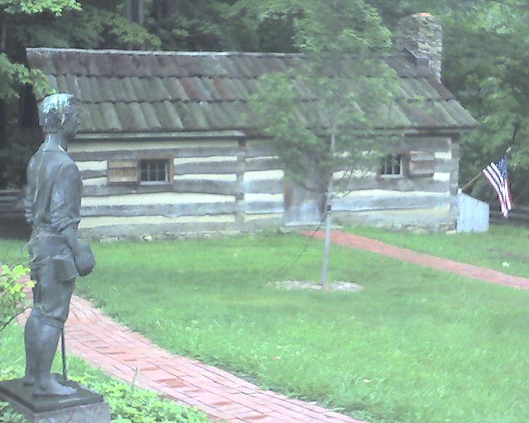 Skromny dom, w ktorym urodzil sie Prezydent James Garfield