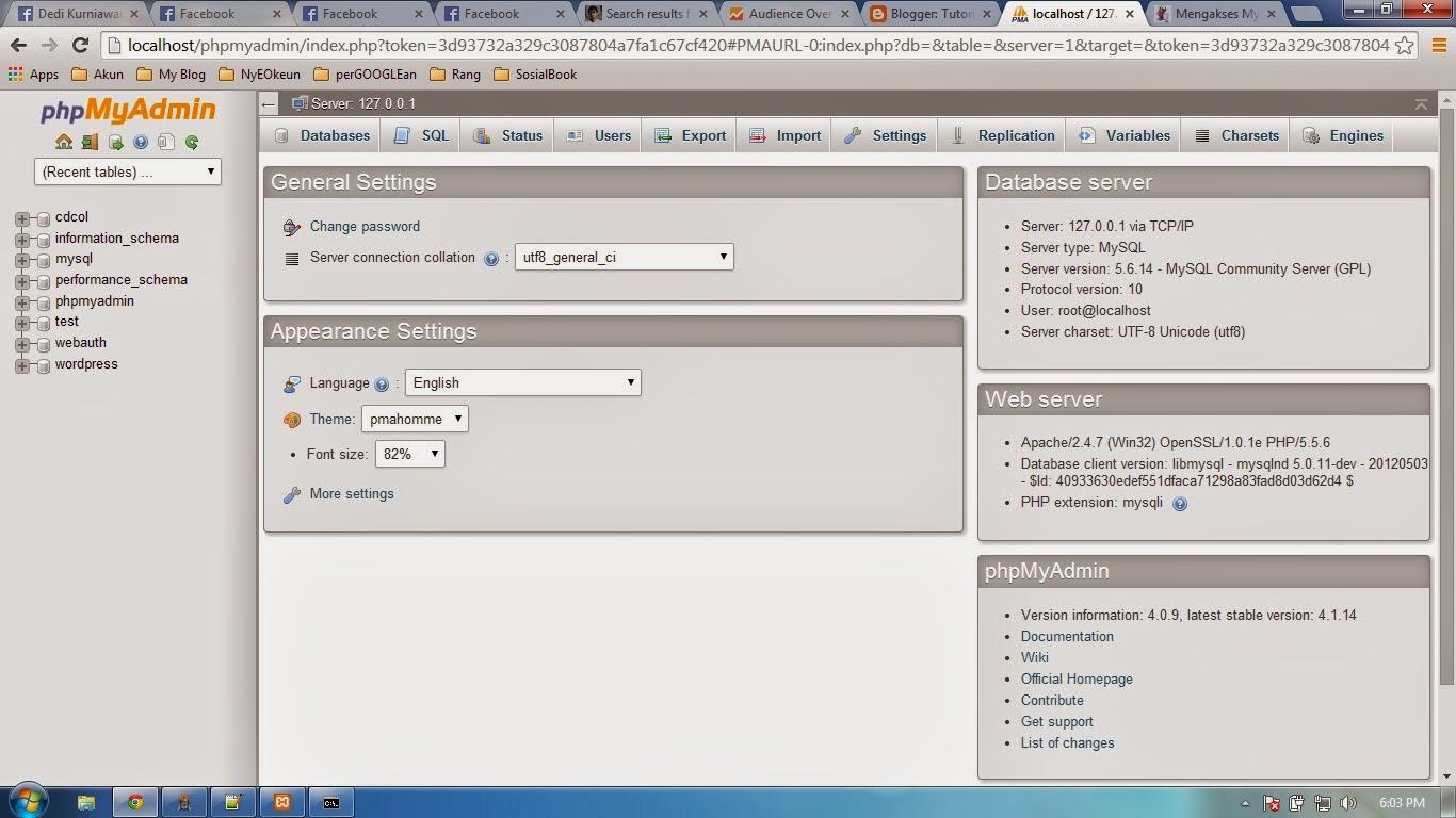 Belajar Membueta database dengan Phpmyadmin