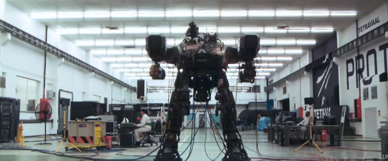 chappie 2015 film trailer giant robot hugh jackman neil blomkamp