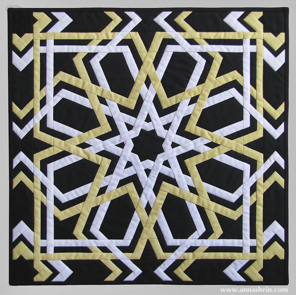 Квилт (лоскутное панно) с орнаментом. Шеин Анна.