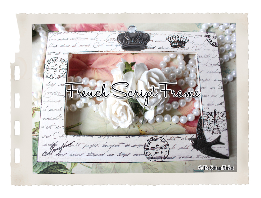 French Script Frame DIY It\'s a Cinch - The Cottage Market