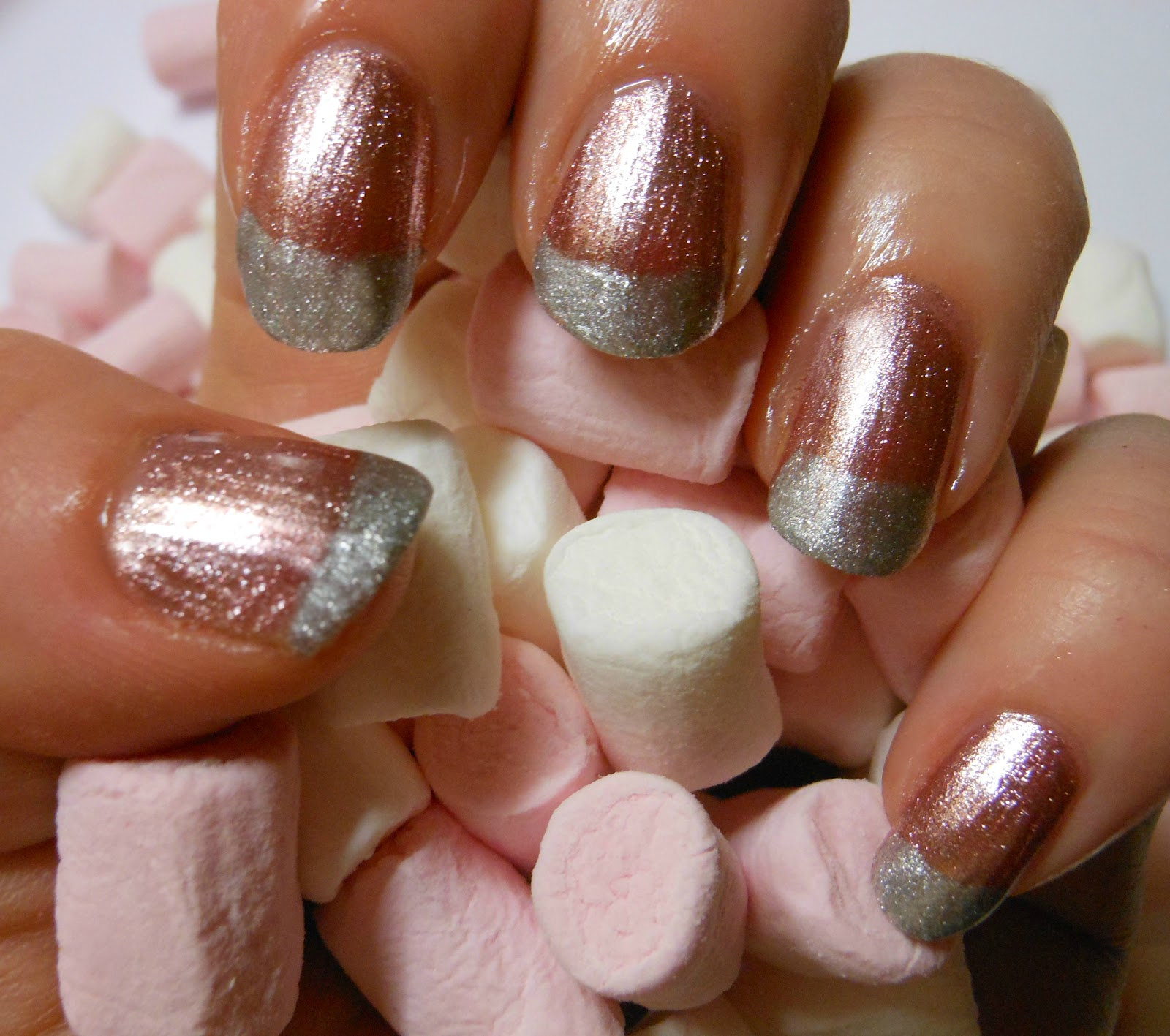 CherrySue, Doin\' the Do: Metallic Marshmallow Nails - Fun Twist on ...