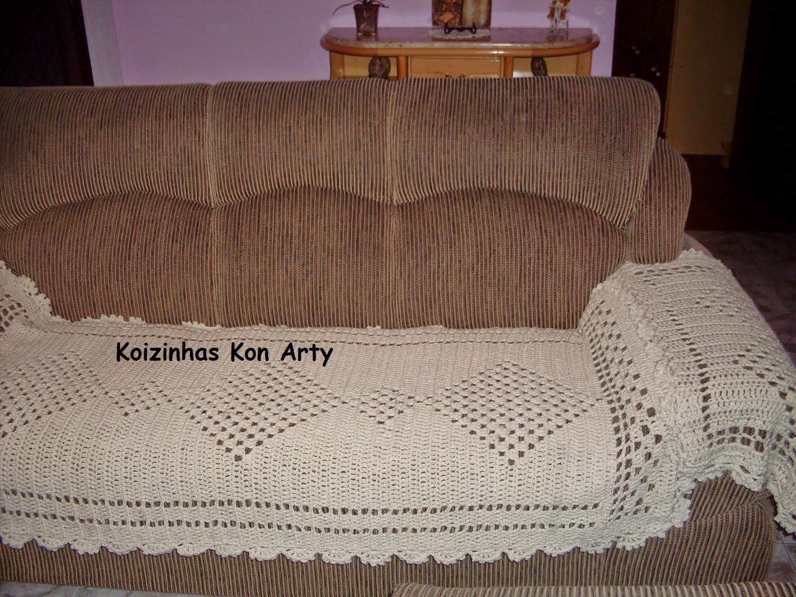 Jogo de manta / capa / protetor de sofá Koizinhas Kon Arty  #2D1C16 1600x1200