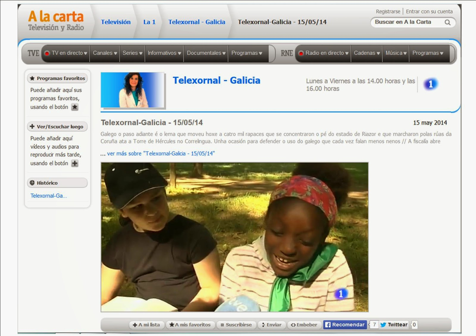 http://www.rtve.es/alacarta/videos/telexornal-galicia/telexornal-galicia-15-05-14/2565635/