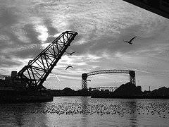 Cuyahoga River Flats by laszlo-photo via Flickr and a Creative Commons license