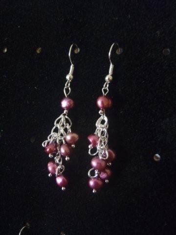 Beautiful Purple Freshwater Pearl Earrings